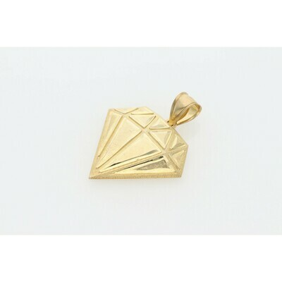10 Karat Gold Diamond Shape Charm