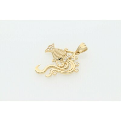 14 Karat Gold & Zirconium Aquarius Charm