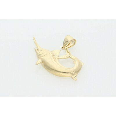 10 Karat Gold Swordfish Charm