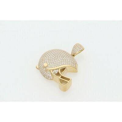 10 karat Gold & Zirconium American Football Helmet Charm