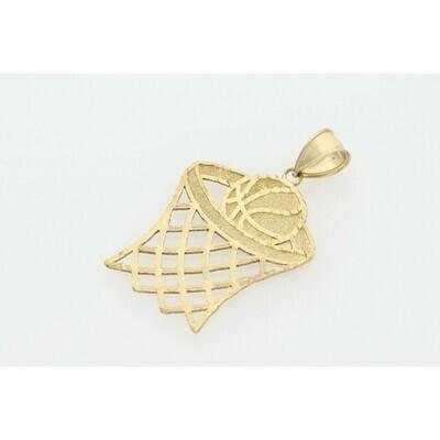 10 Karat Gold Basketball Charm