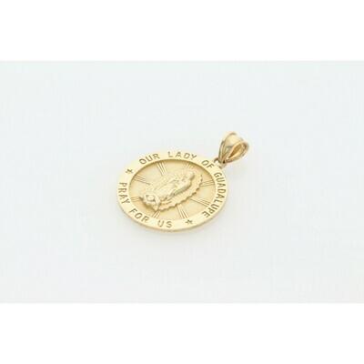 10 Karat Gold Guadalupe Virgin Medal