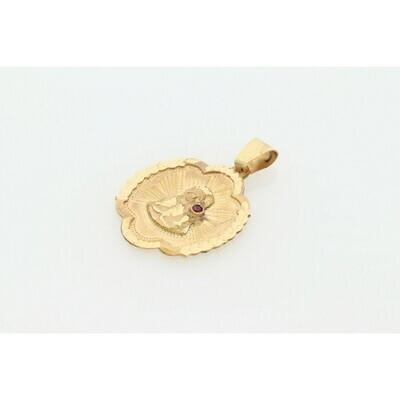 10 Karat Gold & Zirconium St. Barbara Medal