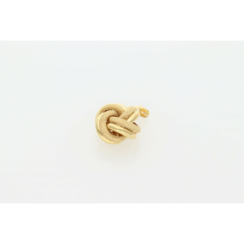 10 Karat Gold Textured Knot Charm