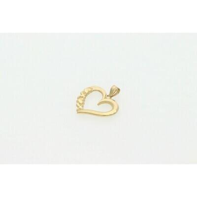 10 Karat Gold Heart Charm