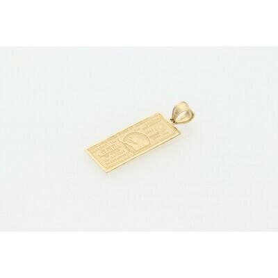 10 Karat Gold Bill Charm
