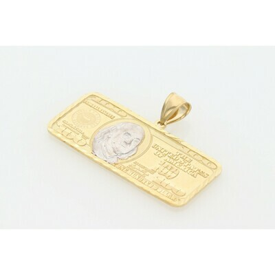 10 karat Two Tone Dollar Charm