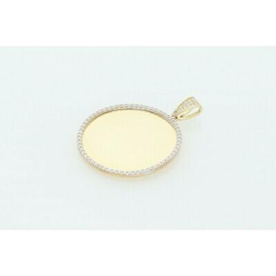 10 karat Gold & Zirconium Small Photo Charm