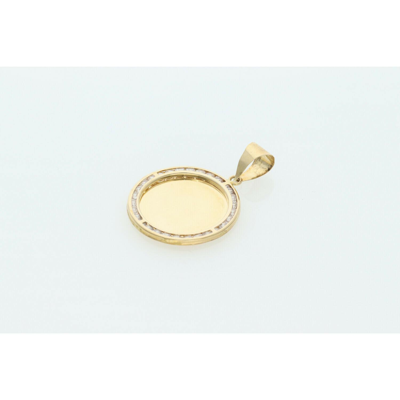 10 karat Gold & Cz Photo Charm  W: 2.3 ~