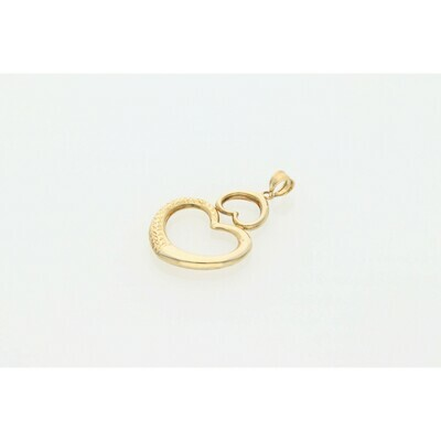 10 karat Gold Two Hearts Charm