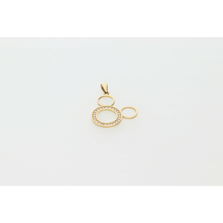 10 Karat Gold & Zirconium Mickey Mouse Charm