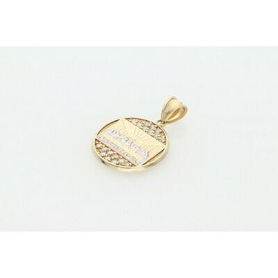 10 Karat Gold & Zirconium Last Supper Medal Charm