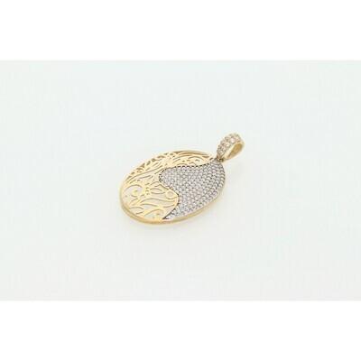 10 karat Gold & Zirconium Yin Yang Charm