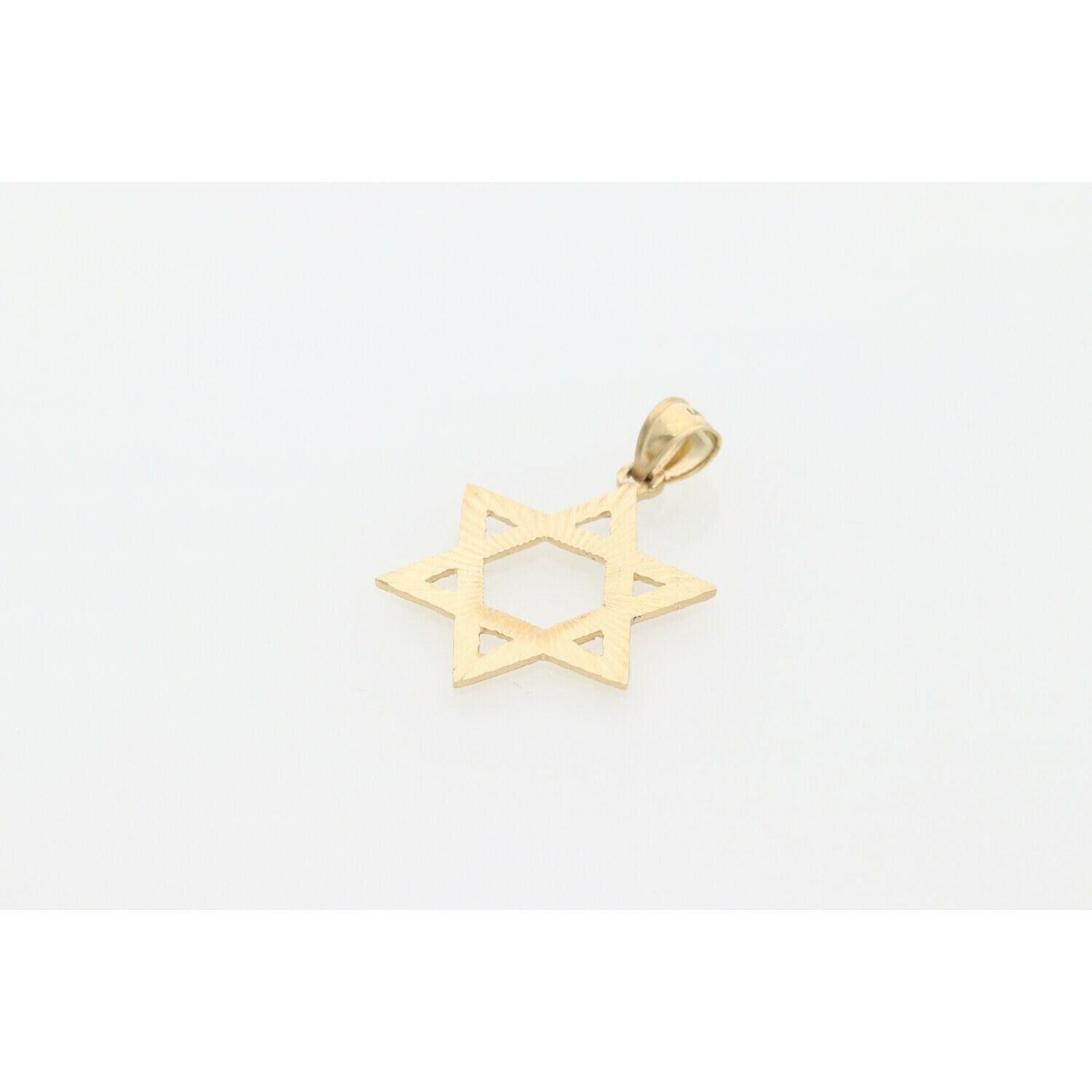 14 Karat Gold Textured David Star Charm