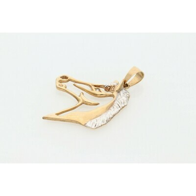 10 Karat Gold Two Tone Horse Charm