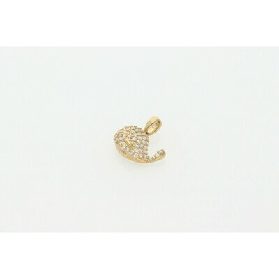 10 karat Gold & Zirconium Whale Charm