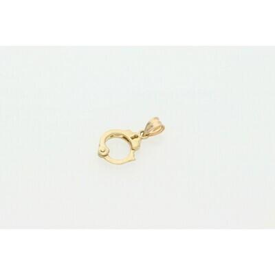 10 Karat Gold Handcuffs Charm