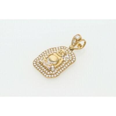 10 karat Gold & Zirconium Buddha Charm