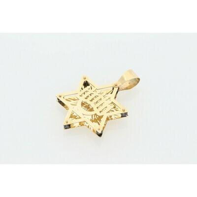 14 Karat Gold David Star Charm
