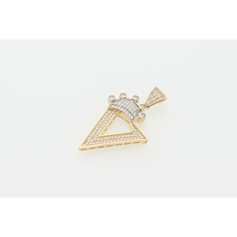 10 karat Gold & Zirconium Letter