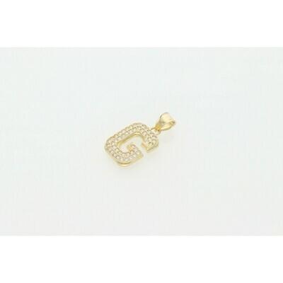 10 Karat Gold & CZ Letter