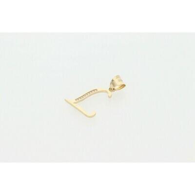 14 karat Gold & Cz Letter Charm
