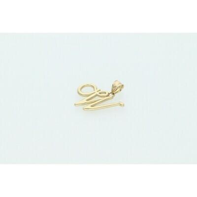 10 karat Gold Scrip Letter