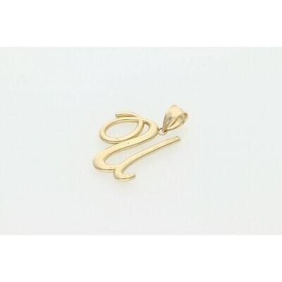 10 Karat Gold Cursive Letter