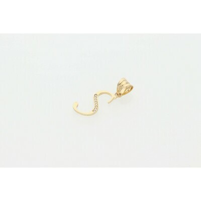 14 karat Gold & Cz Letter