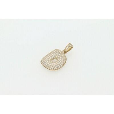 10 Karat Gold & Zirconium Bubble Letter