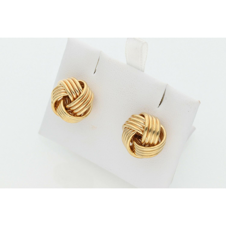 14 Karat Gold Big Knots Earrings