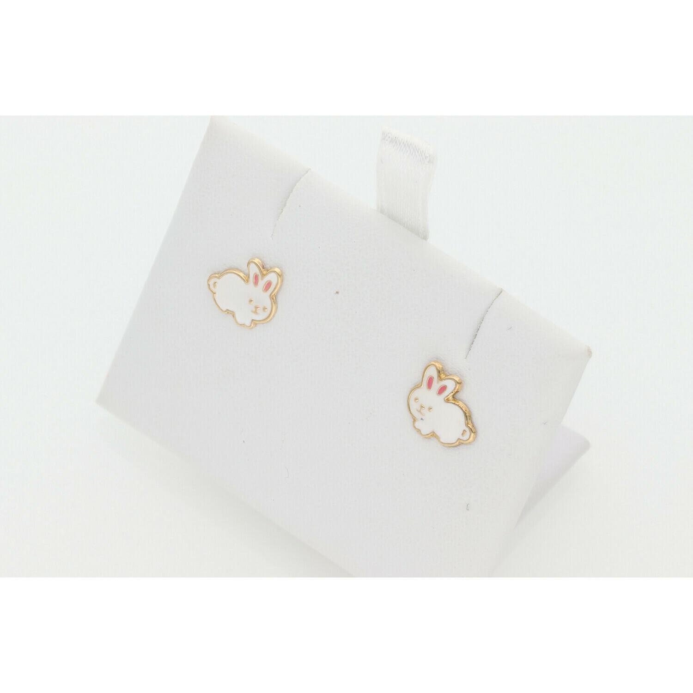 14 Karat Gold Bunny Earrings