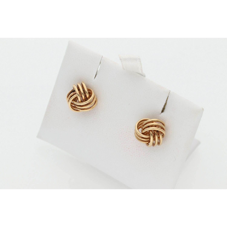 14 Karat Gold Fancy Knots Earrings