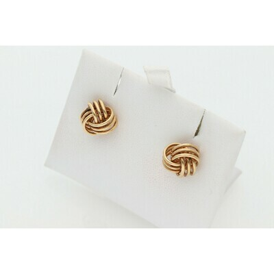 14 Karat Gold Fancy Knots Earrings