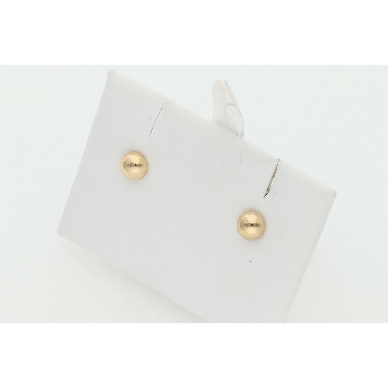 14 Karat Gold Xs Semi Ball Earring W: 0.4 ~