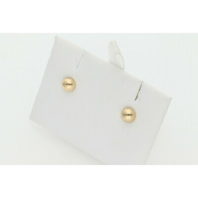 14 Karat Gold Xs Semi Ball Earring W: 0.4 ~