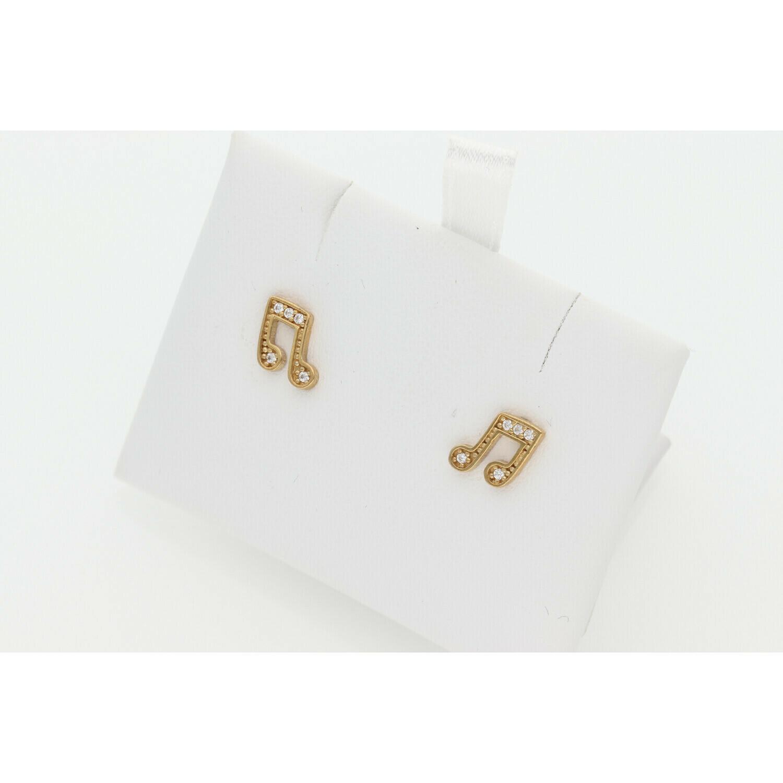 10 karat Gold Musical Earrings