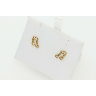 10 karat Gold Musical Earrings