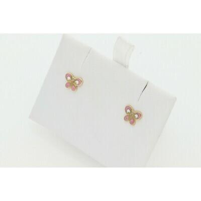 14 Karat Gold Butterfly Earrings