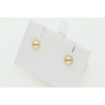 14 Karat Gold S Semi Ball Earrings W: 0.5 ~