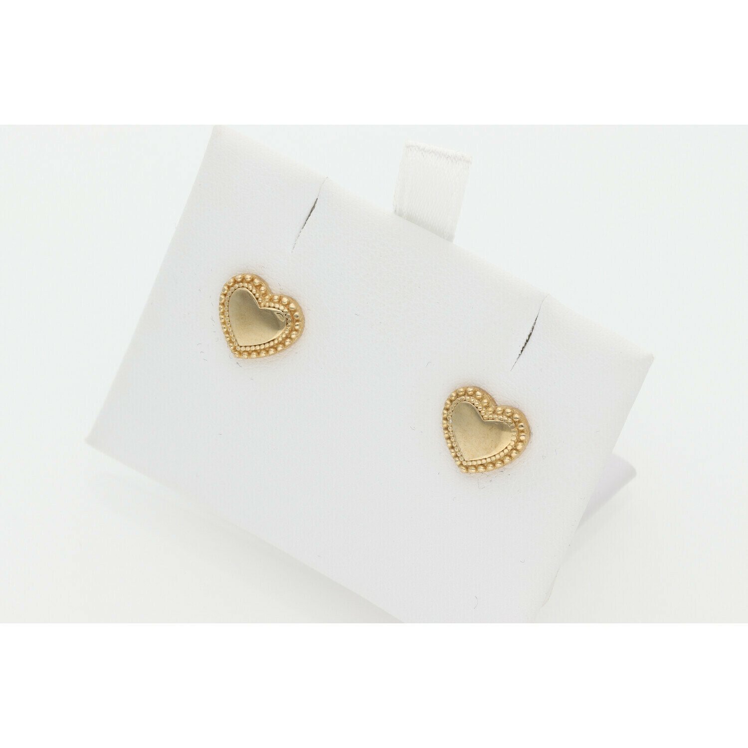 10 Karat Gold Heart Earrings