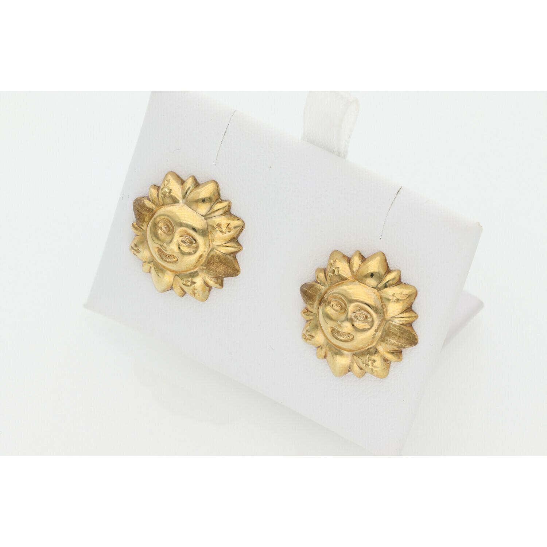 10 karat Gold Sun Earrings