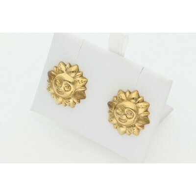 10 karat Gold Sun Earrings