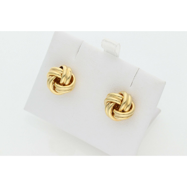 10 Karat Gold Knot Earrings
