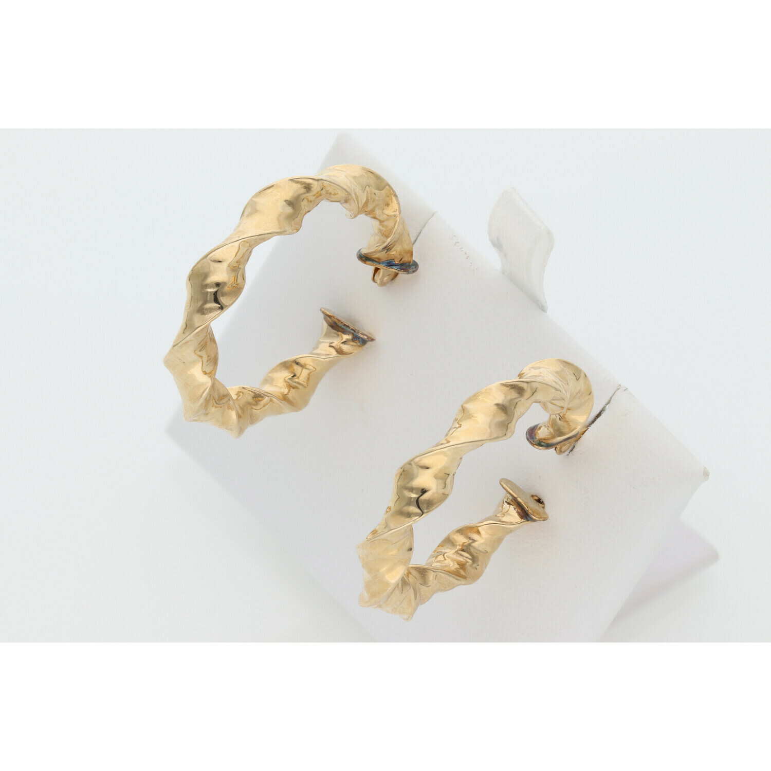 14 Karat Gold Fancy Hoops Earrings W: 3.3 ~