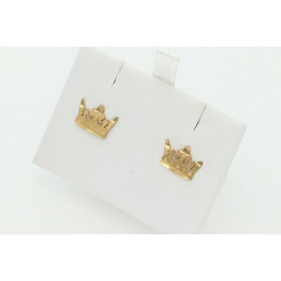 10 Karat Gold Crown Earrings