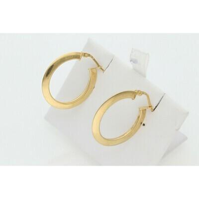 10 Karat Gold Oval Hoops