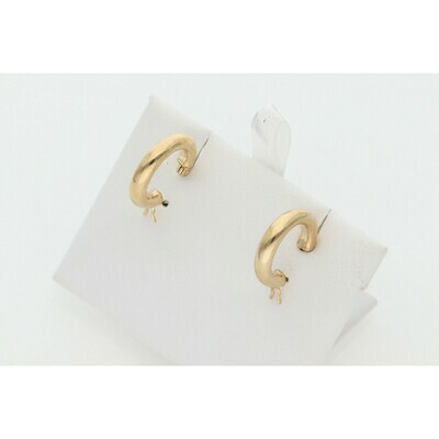 10 Karat Gold Small Hoops Earrings W: 1.2 ~