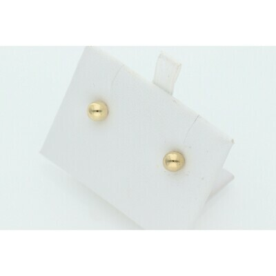 14 Karat Gold Ball Earrings W: 1.7 ~