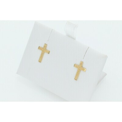 10 Karat Gold Cross Earrings